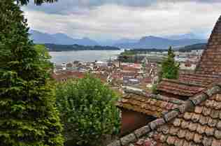 Lucerne From Musegg Rampart Wall
