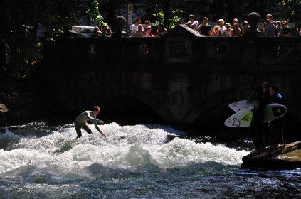 Surfing the Eisbach