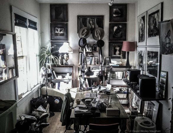 My creative space is as cluttered as my mind.