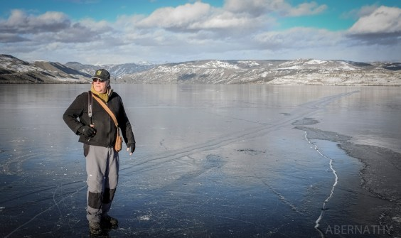 Me, on Fremont Lake, Pinedale Wyoming.