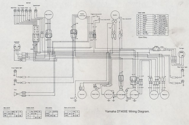 1977 Yamaha    Dt    250    Wiring       Diagram      hobbiesxstyle