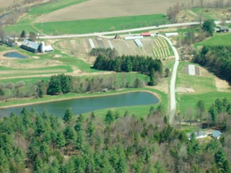Hartshorn Farm from above