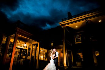Carolina Inn Night Wedding during the rain