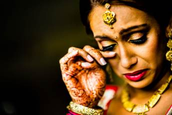 Indian Bride Crying during getting ready
