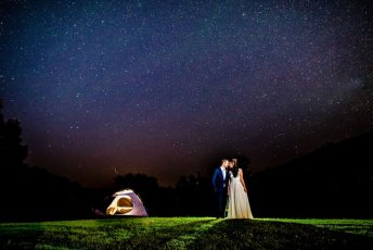 Star Wedding portrait with Astrophotography
