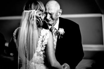 bride and grandfather dancing for last time