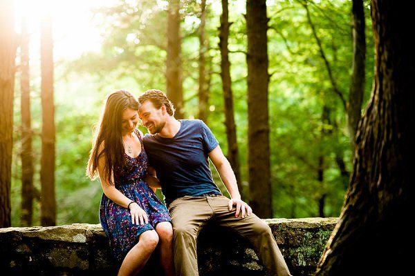 Light and Airy Sleeping Giant State Park Engagement photo