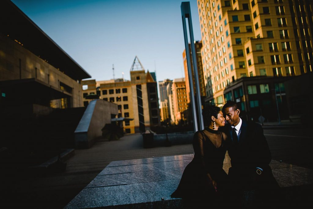 Downtown Raleigh Engagement Photos by Raleigh Wedding Photographer Dave Shay