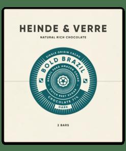 Voorkant verpakking van de chocolade (Bold Brazil Dark)