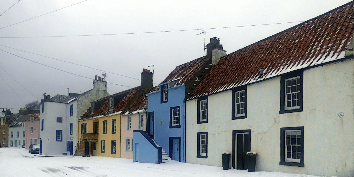 St Monans, West Shore in the snow