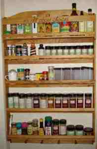 Personalized custom spice rack.