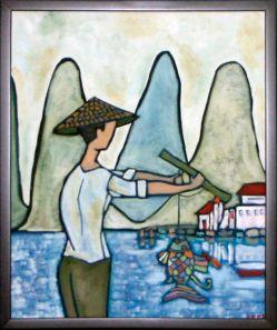 Fisherman with Goldfish