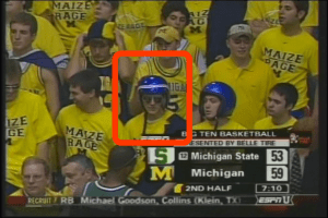 Would you believe it if I said this wasn't my most embarrassing gameday costume in college?