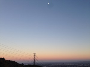 Truly lost in the cosmos the moon over Los Angeles