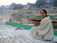 Our Trip Leader, Dilkiran, at the Ganges River, Varanasi.