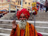 Fake holy man, but worth 10 Rupees for the photo. Varanasi