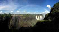 A rainbow greeted us at Victoria Falls