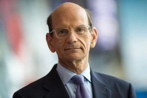 Bristol, CT - May 23, 2013 - Digital Center: Portrait of Paul Finebaum. (photo by Joe Faraoni/ ESPN Images)