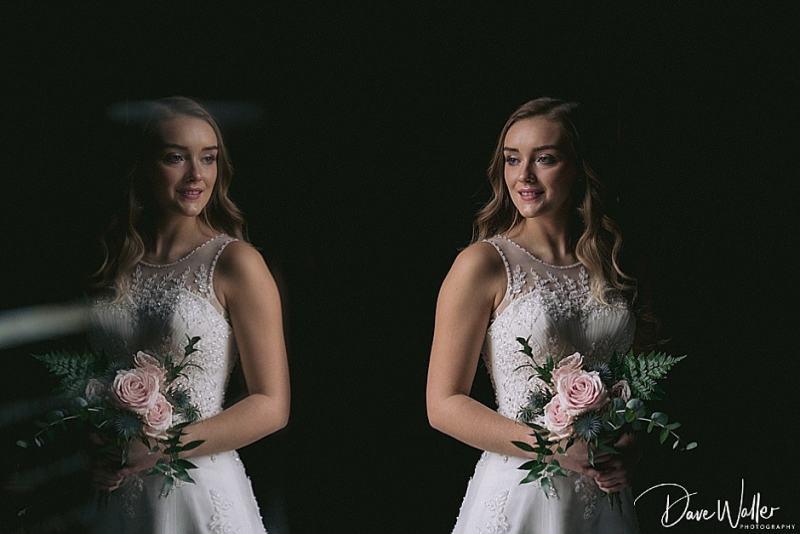 bride at Hazlewood Castle on her wedding day
