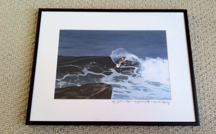 """surf art"", ""surfer art"", ""Maui art"", ""Hawaii art"", ""custom art"", ""art with meaning"""