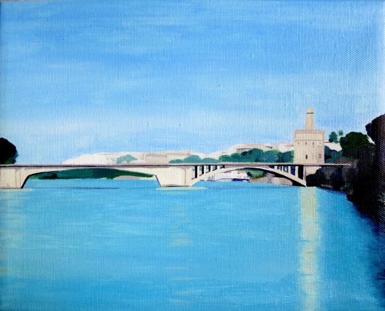 spain art, spain painting, spanish art, spanish painting, artist dave white, dave white paintings, dave white art, sevilla art, sevilla painting, torre del oro