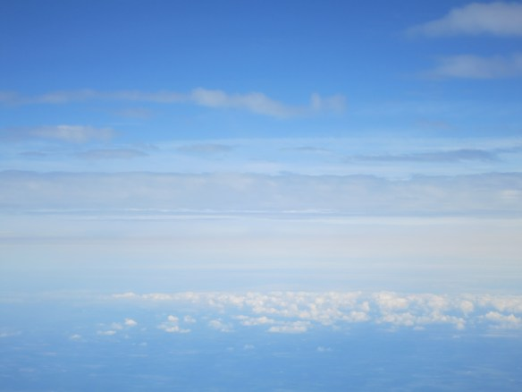 sky photography, view from airplane,