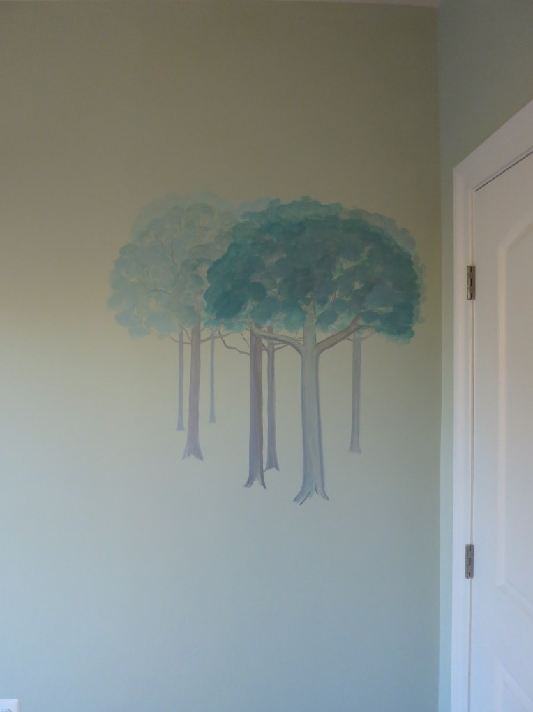 Forest Friends Kids Mural Progress