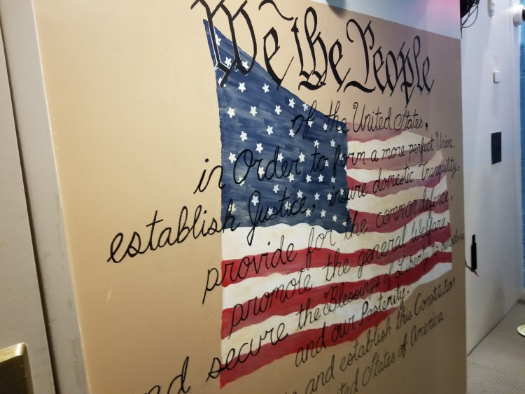 Declaration of Independence Mural at The Jefferson Hotel