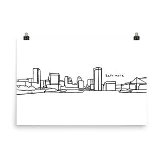 Baltimore Skyline Art Print
