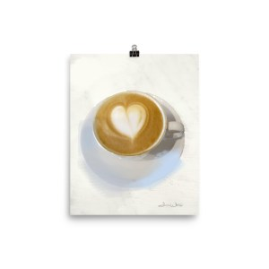 Coffee Heart Art Cappuccino