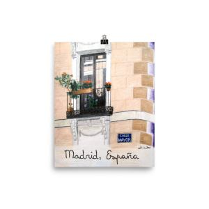 Madrid Spain Art Print Calle Mayor