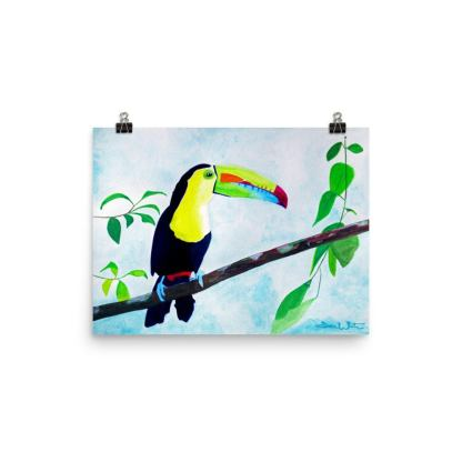 toucan painting art print