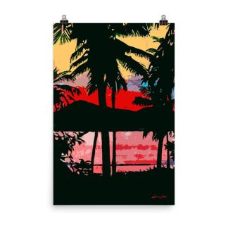 Tropical Sunset Painting Palm Trees