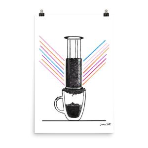 Aeropress Coffee Art