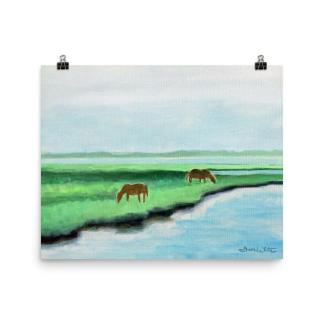 Assateague Horses Painting