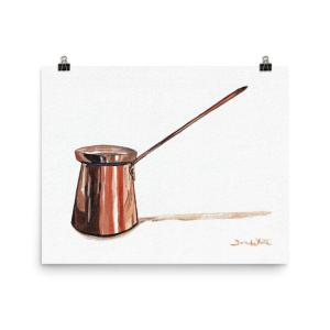 Ibrik Coffee Painting Art Print