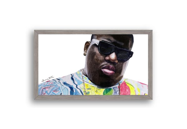 Biggie Smalls Portrait Painting Grey Frame