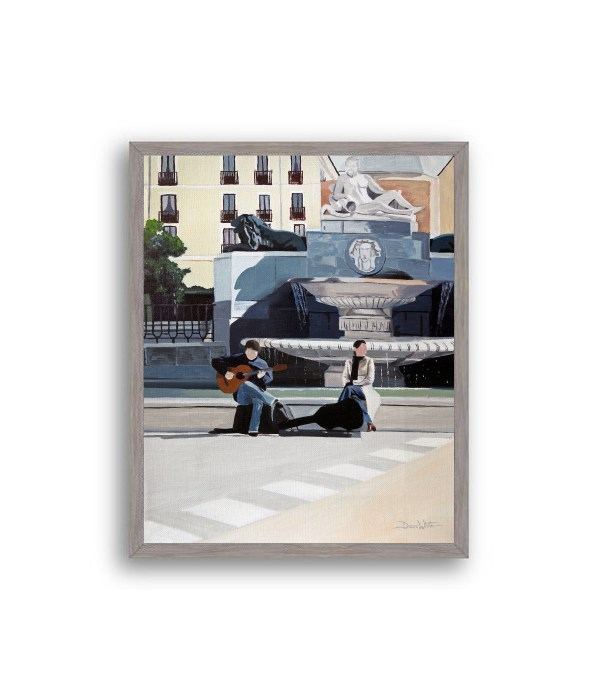 Madrid Plaza de Oriente Painting Grey Frame