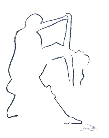 love art, romantic art, romance art, figurative art, figurative drawing, figurative couple, dance art, dance drawing