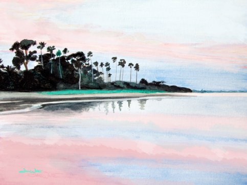 crystal beach florida, crystal beach, palm harbor, florida beach, beach art, beach painting, florida beach painting, beach sunset, gulf coast beach