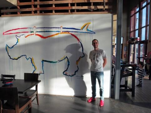 lost rhino retreat, lost rhino, lost rhino mural, artist dave white, ashburn artist, ashburn virginia