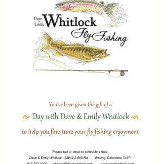 Whitlock Fly Fishing Instruction Gift Certificates