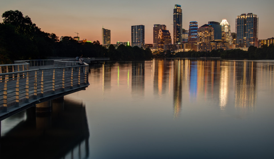 Austin Skyline From The Lady Bird Lake Boardwalk ‹ Dave