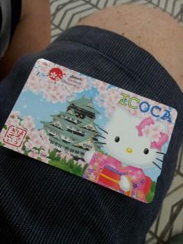 Hello Kitty/Osaka Castle limited edition public transport card