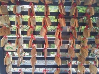 Prayer blocks at Kiyomizu-dera temple in Kyoto