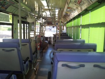 A bus with no passengers in Fukuoka