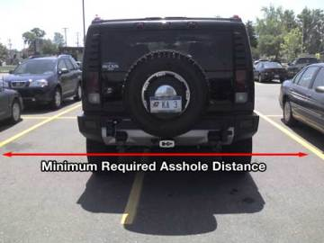 I will take up two parking spaces. Deal with it.
