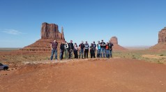 Team One between the Mittens at Monument Valley