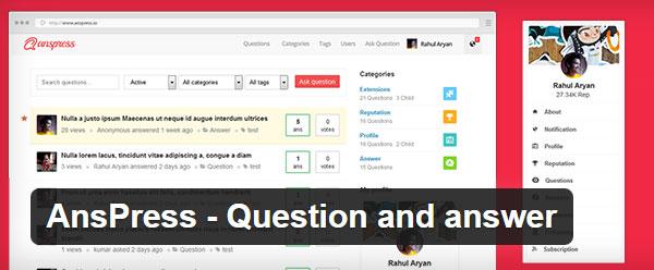 AnsPress Fragen und Antworten Plugin WordPress