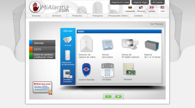 MiAlarma.com - Home - Alarmas